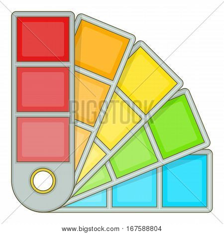 Color palette guide icon. Cartoon illustration of color palette guide vector icon for web