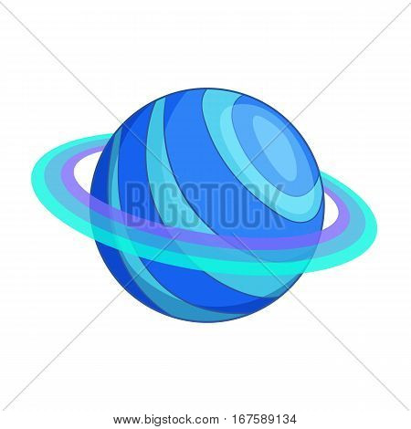 Saturn planet icon. Cartoon illustration of Saturn planet vector icon for web