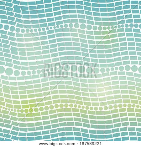 Vector Blue Green Gradient Abstract Geometric Waves Seamless Pattern Background. Great for modern texture fabric, cards, wedding invitations, wallpaper. Textile pattern design.
