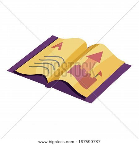 ABC book icon. Cartoon illustration of ABC book vector icon for web
