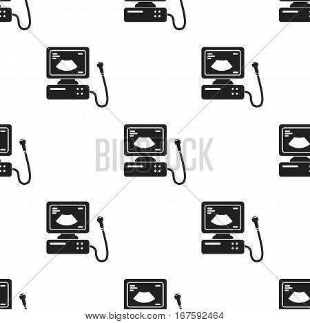 Ultrasound diagnostic icon in black style isolated on white background. Pregnancy pattern vector illustration. - stock vector