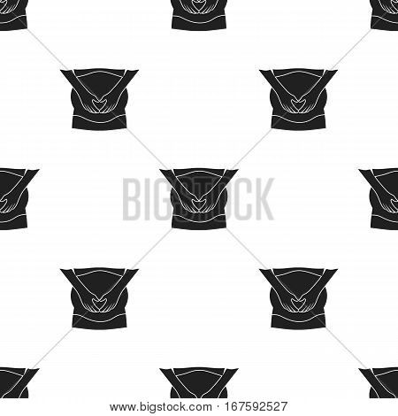 Pregnant icon in black style isolated on white background. Pregnancy pattern vector illustration. - stock vector