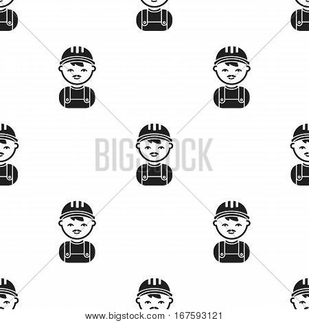 Policeman black icon. Illustration for web and mobile. - stock vector