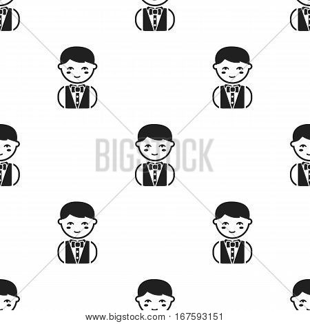 Waiter black icon. Illustration for web and mobile. - stock vector