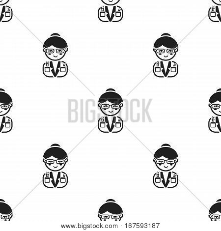 Scientist black icon. Illustration for web and mobile. - stock vector