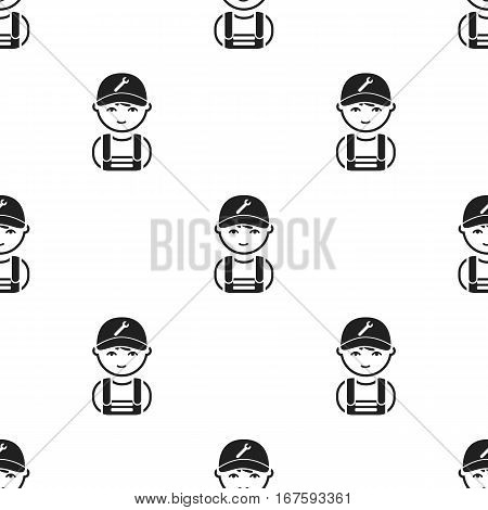 Mechanic black icon. Illustration for web and mobile. - stock vector
