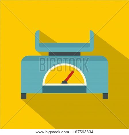 Mechanical scales icon. Flat illustration of mechanical scales vector icon for web