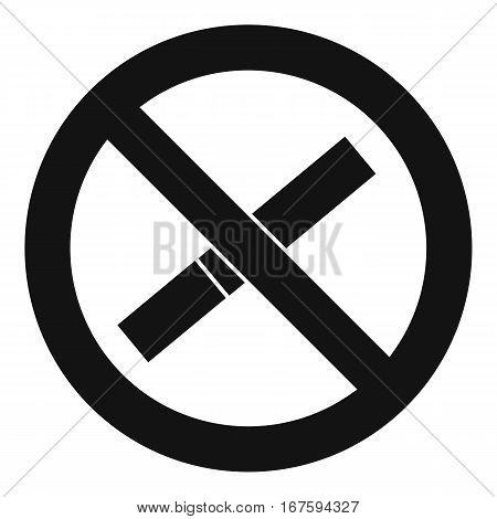 Sign prohibiting smoking icon. Simple illustration of sign prohibiting smoking vector icon for web