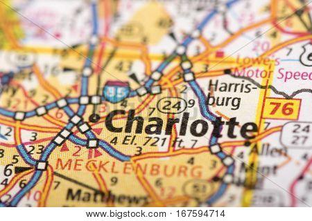 Charlotte, North Carolina On Map