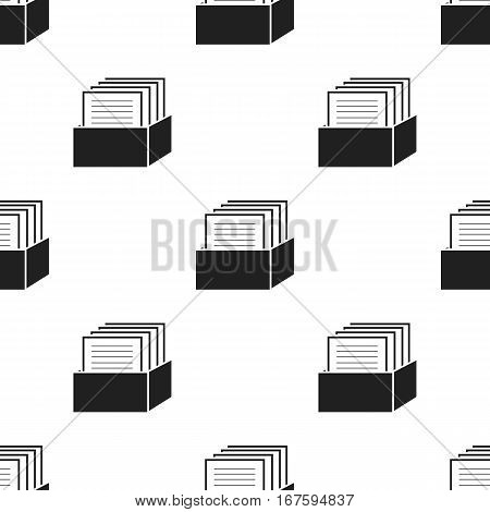 Archive icon black. Single education icon from the big school, university black. - stock vector