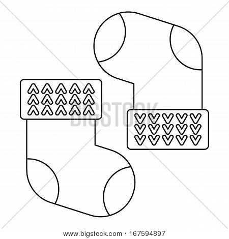 Baby cotton socks icon. Outline illustration of baby cotton socks vector icon for web