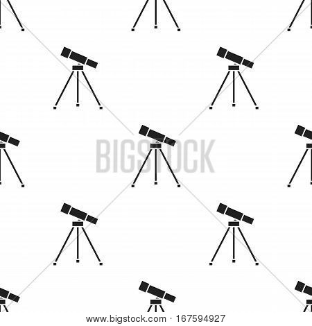 Telescope icon black. Single education icon from the big school, university black. - stock vector