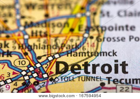 Detroit, Michigan On Map