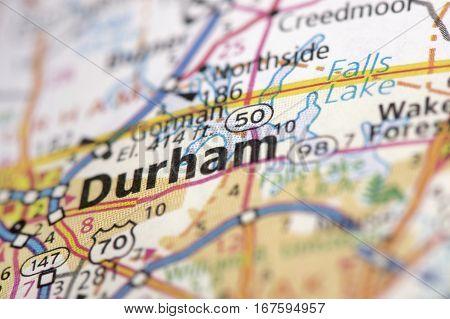 Durham, North Carolina On Map