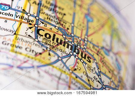 Columbus, Ohio On Map