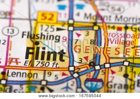 Flint, Michigan On Map