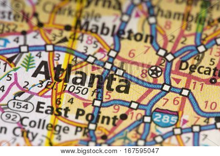 Atlanta, Georgia On Map
