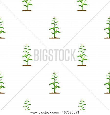 Corn icon cartoon. Single plant icon from the big farm, garden, agriculture cartoon. - stock vector
