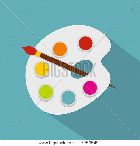 Palette icon. Flat illustration of palette vector icon for web