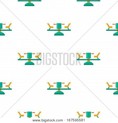 Carousel icon in cartoon style isolated on white background. Play garden pattern vector illustration. - stock vector