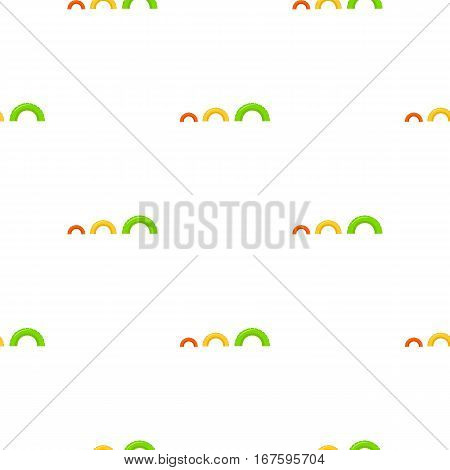 Tire on playgarden icon in cartoon style isolated on white background. Play garden pattern vector illustration. - stock vector