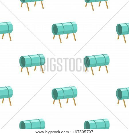 Playground tunnel icon in cartoon style isolated on white background. Play garden pattern vector illustration. - stock vector