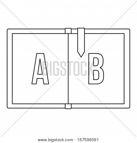 Children abc icon. Outline illustration of children abc vector icon for web