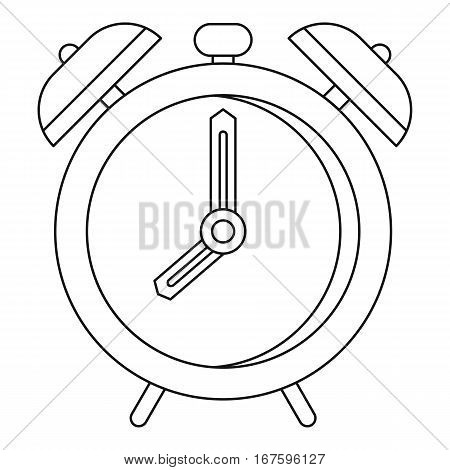 Alarm clock icon. Outline illustration of alarm clock vector icon for web