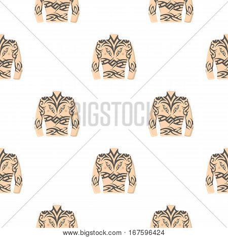 Body tattoo icon cartoon. Single tattoo icon from the big studio cartoon. - stock vector