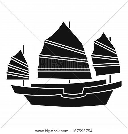 Junk boat icon. Simple illustration of junk boat vector icon for web