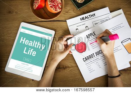 Healthy Life Getting Fit Balance Vitality Wellness
