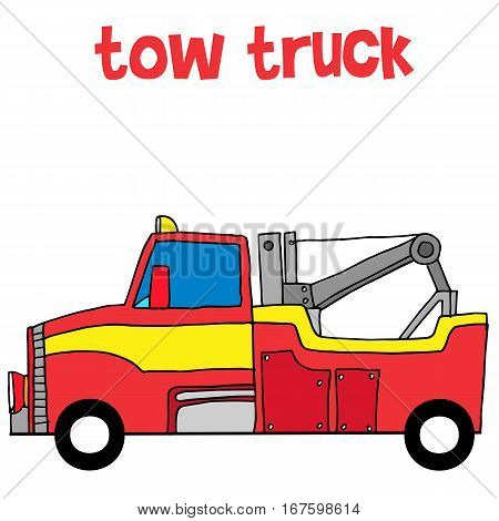 Red tow truck vector illustration collection stock