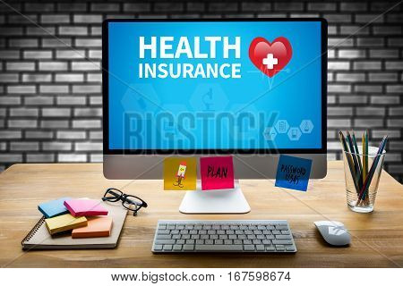 Health Insurance Claim Form , Application Concept  Health Care