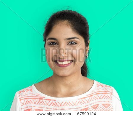 Asian Woman Casual Smiling