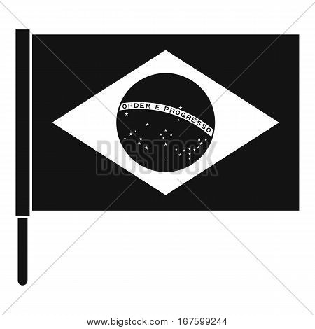 Flag of Brazil icon. Simple illustration of flag of Brazil vector icon for web