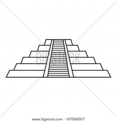 Chichen Itza Maya ruins , Mexico icon. Outline illustration of Chichen Itza Maya ruins , Mexico vector icon for web