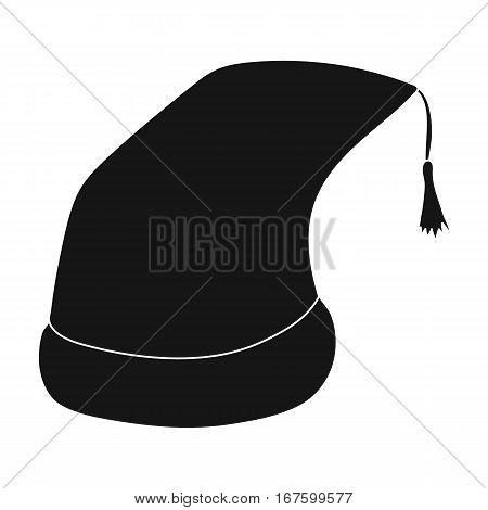 Nightcap icon in black design isolated on white background. Sleep and rest symbol stock vector illustration. - stock vector