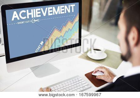 Achievement Strategy Graph Chart Icon