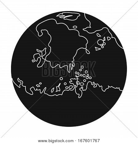 Mars icon in black design isolated on white background. Planets symbol stock vector illustration. - stock vector