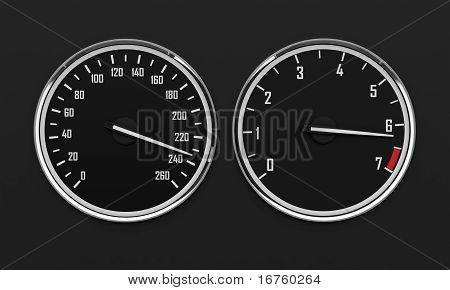 Speedometr And Tachometer