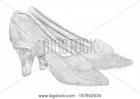 glass shoes isolated on white background