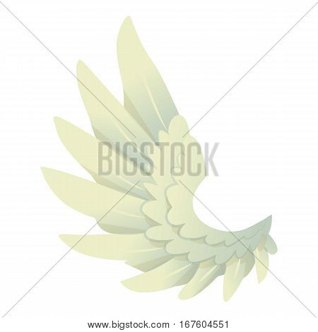 Angel wing icon. Cartoon illustration of angel wing vector icon for web