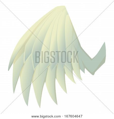 Beautiful wing icon. Cartoon illustration of beautiful wing vector icon for web