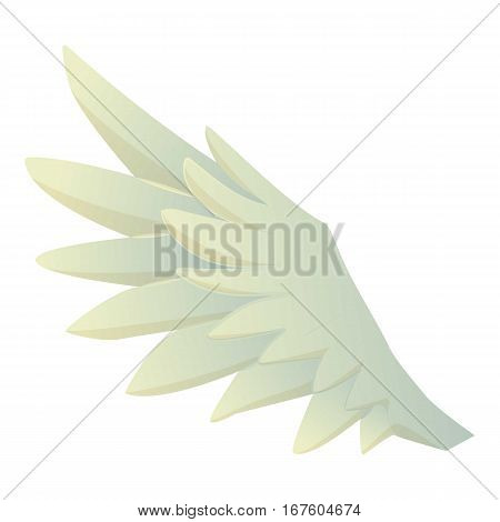 Feather wing icon. Cartoon illustration of feather wing vector icon for web