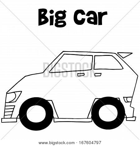 Big car vector art illustration collection stock