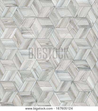 Parquet wood rhombus hexagon repeating floor texture