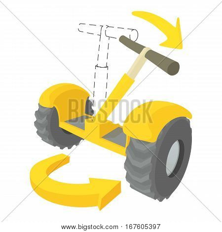 Inclined segway icon. Cartoon illustration of inclined segway vector icon for web