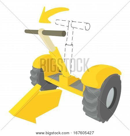 Front inclined segway icon. Cartoon illustration of front inclined segway vector icon for web