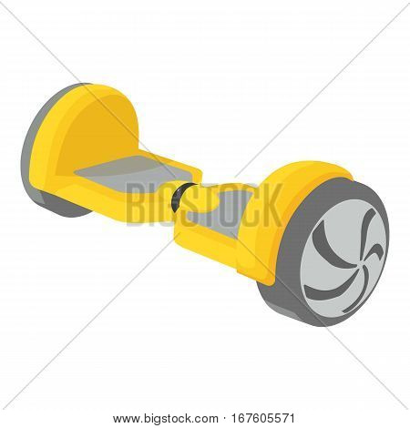 Small segway icon. Cartoon illustration of small segway vector icon for web