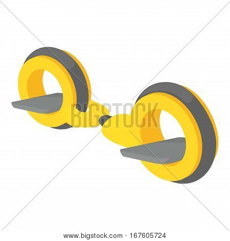 Little segway icon. Cartoon illustration of little segway vector icon for web